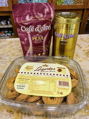 CONJUNTO PENA CAFÉ D'AVÓ 300g + CAIXA LAGARTOS 600g (OFERTA LATA DE CAFÉ)